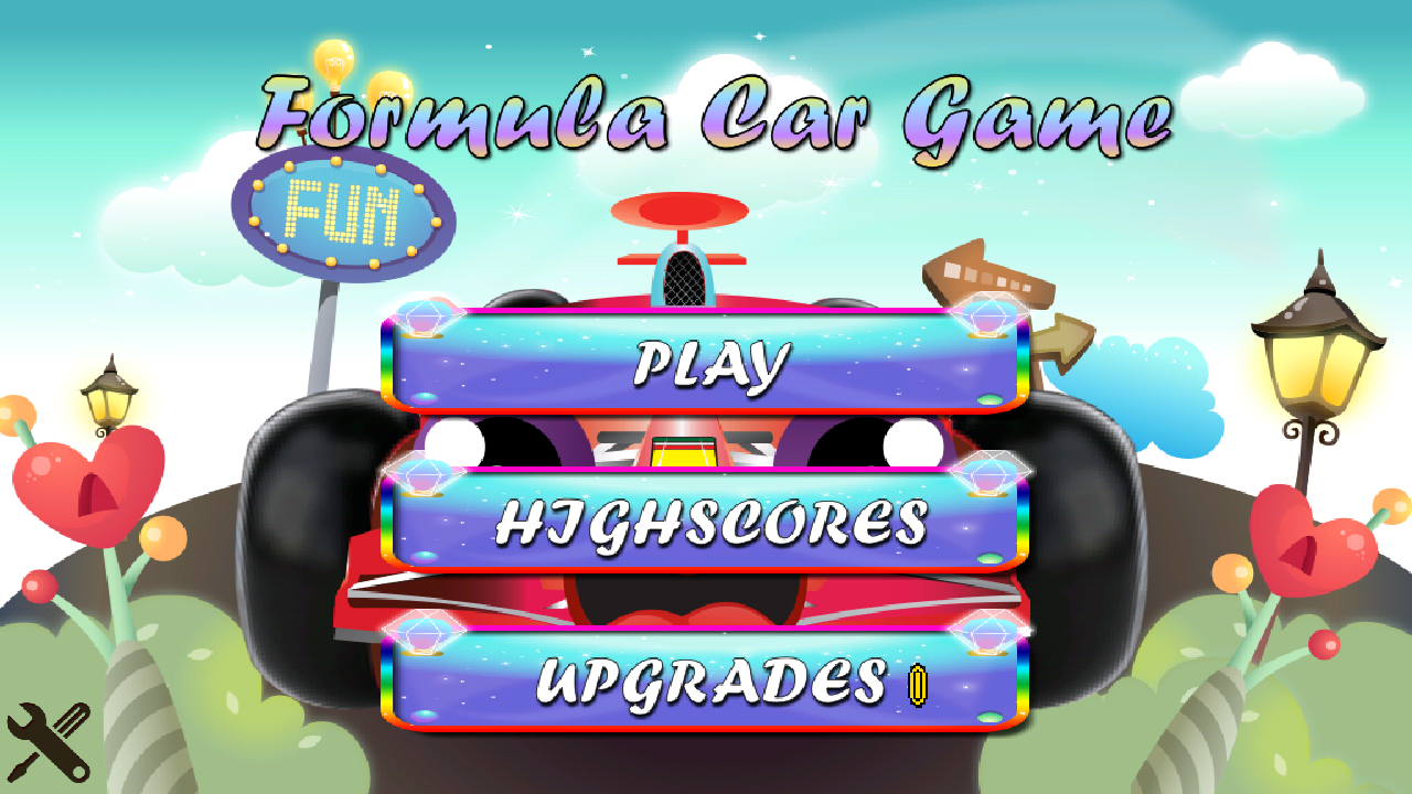 Preview of Android Formula Car Game and Formula Car Game for iOS